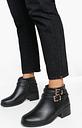 Womens Wide Fit Double Buckle Chelsea Boots - Black - 3, Black