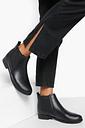 Womens Wide Fit Flat Chelsea Boots - Black - 7, Black