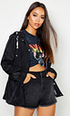 Womens Hooded Mac - Black - 10