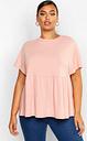 Womens Plus Super Soft Rib Smock Top - Pink - 28, Pink