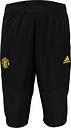 Adidas Pantalón pirata de entrenamiento del Manchester United en negro Black