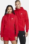 Sweat à capuche et zip Nike Sportswear Club Fleece pour Homme - Rouge