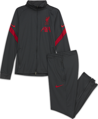 Survêtement de football en maille Liverpool FC Strike pour Enfant plus âgé - Noir