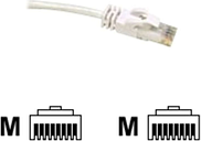 C2G, Cat6 550MHz Snagless Patch Cable White, 15m