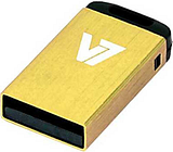 V7 USB NANO STICK 8GB YELLOW - USB2.0 23X12X4MM RETAIL