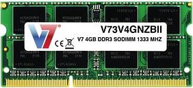 V7 4GB DDR3 SODIMM 1333MHz CL9 - Unbuff Non-ecc 204pin Pc3-10600