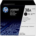 *HP 38A Black Dual Pack Toner Cartridges - Q1338D