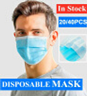 2040Pcs Disposable Sanitary Masks - Face Mask with Earloops Surgical Masks 3 Ply Safety Face MasksBlue
