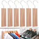 6Pcs Natural Wooden Insect Repellent Anti-mite Cedar Wardrobe Hook Household Moth Mildew Proofing For Closet And Drawer