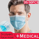 2050PCS Disposable Sanitary Masks-Face Mask with Earloops Surgical Medical Face Masks