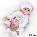 55cm New Realistic Silicone Baby Lifelike Dolls Birthday Gifts Playmates Toy