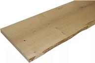 Waney edge Oak Furniture board  (L)1.2m (W)300mm (T)25mm