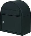 The House Nameplate Company Black Steel Post box  (H)380mm (W)330mm