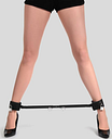 Bondage Boutique Expandable Spreader Bar with Leather Cuffs