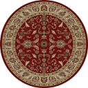 Concord Global 65109 7 ft. 10 in. Ankara Agra - Round, Red