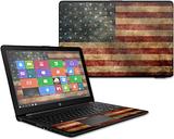 HP15T-Vintage Flag Skin for 15.6 in. 2017 HP 15T Laptop, Vintage Flag