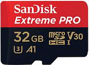 Sandisk microSDHC 32 GB EXTREME PRO 100MB/s A1 C10 V30 UHS-I U3 + adapter SD (w magazynie!)