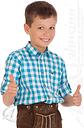 Orbis Trachtenhemd Kind - Ki-H039 - PAULI, Türkis, 134/140