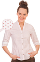 PURE Trachtenbluse - DAIANE, Rot, S