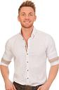 PURE Trachtenhemd - FREDO, Weiß, S