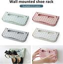 folding Shoe Rack Bathroom Wall-mounted Sneaker Rack Shoe Storage Box Household Shoe Storage Rack Save Space