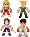 Street Fighter Wave 1 présentoir figurines 8 cm (16)