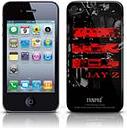 Coque Skin iPhone 4G Jay Z - Red Logo. Produit officiel Emi Music