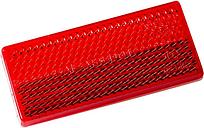 Hashiru Rückstrahler rot rechteckig (70x32mm) selbstklebend