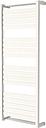 GoodHome Loreto 679W White Towel warmer (H)1300mm (W)500mm