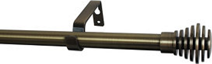 GoodHome Antiki Gold Antique brass effect Extendable Curtain pole Set  (L)2000mm-3300mm