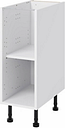 GoodHome Caraway White Base cabinet  (W)300mm