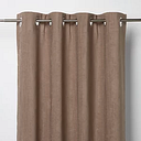 Pahea Brown Chenille Blackout Eyelet Curtain (W)167cm (L)183cm  Single