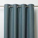 Digga Blue Diamond Unlined Eyelet Curtain (W)117cm (L)137cm  Single