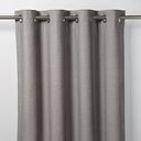 Digga Grey Diamond Unlined Eyelet Curtain (W)167cm (L)228cm  Single