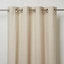 Hiva Beige Plain Unlined Eyelet Curtain (W)167cm (L)228cm  Single