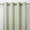 Kalay Light green Geometric Unlined Eyelet Curtain (W)167cm (L)183cm  Single