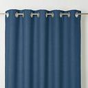 Novan Dark blue Plain Unlined Eyelet Curtain (W)167cm (L)183cm  Single