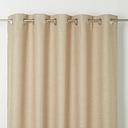 Novan Beige Plain Unlined Eyelet Curtain (W)117cm (L)137cm  Single