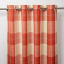 Podor Orange & white Check Unlined Eyelet Curtain (W)117cm (L)137cm  Single
