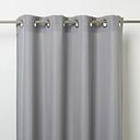 Kippens Grey plain Unlined Eyelet Voile curtain (W)140cm (L)260cm  Single