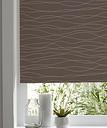 Boreas Corded Brown & white Wave Blackout Roller Blind (W)120cm (L)195cm