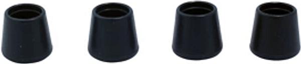 Diall Black Plastic Leg tip (Dia)12mm  Pack of 4