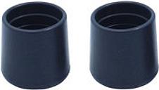 Diall Black Plastic Leg tip (Dia)30mm  Pack of 2