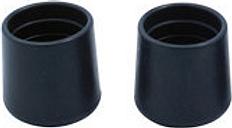Diall Black Plastic Leg tip (Dia)32mm  Pack of 2