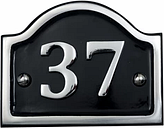 The House Nameplate Company Polished Aluminium House number 39  (H)115mm (W)115mm