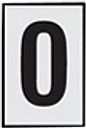 The House Nameplate Company Silver effect uPVC Self-adhesive House number 0  (H)60mm (W)40mm