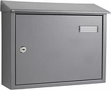 The House Nameplate Company Grey Powder-coated Steel Post box  (H)280mm (W)365mm