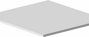Form Perkin White Shelf (L)475mm (D)450mm  Pack of 2