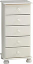 Malmo Stained White Pine 5 Drawer Chest (H)901mm (W)441mm (D)383mm