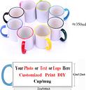 Taza impresa personalizada, varios colores, foto DIY, logotipo, texto, Taza de cerámica de viaje,